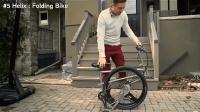 炫酷折叠自行车带着上下班坐地铁方便