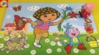 小猪佩奇手工贴画制作爱探险的朵拉过家家玩具 155