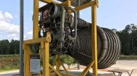 美航天中心展出的火箭发动机, 高科技的构造看着就是复杂