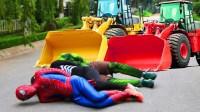 蜘蛛侠 权力护林员 推土机 Spiderman vs Power Ranger