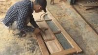 实拍农村木匠纯手工制作木门, 制作这么精美, 而价格只要商店里的十分之一~