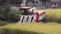 日本的这款水稻收割机, 自己认为是见过的收割机里最好的