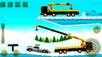 工程车视频之起重机和吊车 大吊车工作视频 吊车协作开展赛车转运 阿克叔游戏_1080p