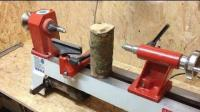 厂里月薪8000的木匠师傅, 看他如何把这截木头车成精巧酒杯!
