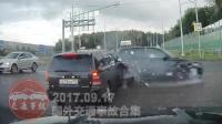 国外车祸合集20170911: 疯狂驾驶与汽车碰撞的交通事故