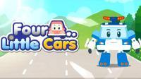和警车珀利一起学歌谣(1)四辆小汽车Four little cars-幼儿园安全教育 傲仔小天地