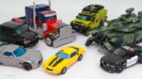 变形金刚 擎天柱 大黄蜂 雾凇爵士铁皮棘轮路障吵闹汽车机器人玩具【俊和他的玩具们