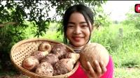 这种芋头多少钱一斤, 这样做好吃吗, 柬埔寨美女做的如何