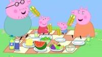 小猪佩奇太贪玩 粉红猪小妹烤焦生日蛋糕
