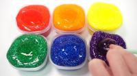 趣味启蒙早教! 手工制作闪光泥DIY百变创意造型, 学习英语颜色