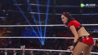 WWE美式摔跤娱乐 2014夏季狂潮大赛 布瑞反抗高层和大公主掐架遭姐姐妮琪背叛