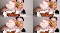 韩国美女吃芝麻炸鸡, 一副好好吃的样子让人看着流口水了! 手机看片www com