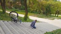 山地自行车城市速降失误合集, 隔着屏幕都能感觉到疼