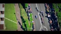 自行车公路赛的激烈冲刺视频, 从空中拍摄到各个赛事冲刺的瞬间, 看得清清楚楚, 研究学习