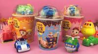 童趣游戏珀利警车 第一季 变形警车珀利吃猪猪侠美食 玩趣味玩具 36
