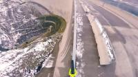 你见过在水坝栏杆上骑单车吗? 下面来看看吧