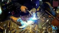 技工师傅用废铁边角打造了一架战斗机, 这技术没谁了! 精美