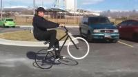 没有轮胎的自行车也能骑出新花样, 你知道吗?