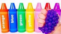 趣味英文早教! 彩色蜡笔筒减压球玩具, 学习颜色