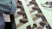 偷偷跟老木匠学手艺, 看看精美的木头拼花是怎么做的