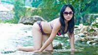 Angelababy杨颖漂亮又清纯的比基尼美女性感写真