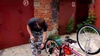 牛人为自己的自行车加装了个发动机, 这车简直要上天了啊