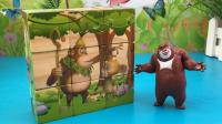 百变熊出没玩具 01 熊出没熊大趣味拼装积木 吉吉拼图