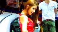 韩国车展上的那些性感美女模特, 风骚短裙美腿风骚秀