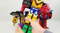彩色的数字方块给我们快乐, 趣味的 变形金刚玩具