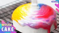 绝美颜控强烈推荐! 精美彩虹镜面蛋糕制作过程