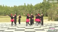 广场交谊舞队大跳广场舞,好有特色!