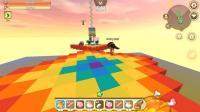 迷你世界联机: 奇葩跑酷, 巨大的彩虹转转乐
