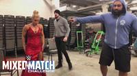 【WWE混双挑战赛】战斗夫妻卢瑟夫和拉娜 上演花式俯卧撑大比拼
