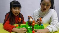趣味玩具小猴子抢大猩猩香蕉游戏