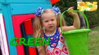 少儿早教亲子互动 可爱的玩具户外玩耍 提高英语听力