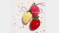户小姐手编 第19集 钥匙扣挂件 草莓 钩针教程