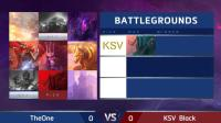 The one vs KSV Black 风暴英雄东区对决2018
