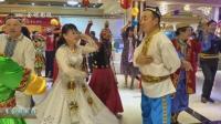 新疆舞双人舞石河子尚华老师和白鸽美女在石河子平平团队麦西来甫联谊会上精彩表演