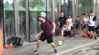 震撼! 世界冠军级球星佩德罗, 秀花式足球, 看得路人目瞪口呆!