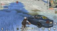 《荒野行动》游戏实况:  雪天-吉利服大作战, 队友一路杀人 我看的眼瞎