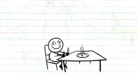 趣味铅笔画: 小光头饿了, 当绵羊去吃草-教育