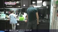 民国把盆子扣在头上跟万岁玩得嗨, 大韩却在厨房洗碗, 好乖!