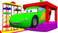 彩色车车玩轨道