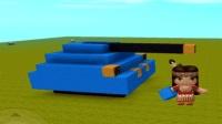 迷你世界新玩法之超酷的坦克教程 笑笑小悠我的世界
