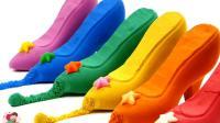 橡皮泥制作, 教小朋友做精美皮鞋, 小熊猫小猪, 小臭臭亲子游戏