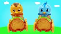 萌鸡小队趣味玩具欢欢丛林卡车