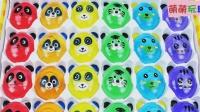 熊猫 老虎 小猫头像趣味玩具, 认颜色识数字视频教程送给你!