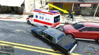 GTA5趣味测试: 开车撞救护车会不会被救护大叔打?