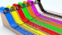 趣味早教: 彩色小汽车动画短片, 教幼儿认识颜色 学习英语