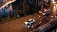 男子將兒子從天橋扔下 致其遭小車碾壓身亡